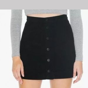American Apparel Corduroy Skirt with Buttons M